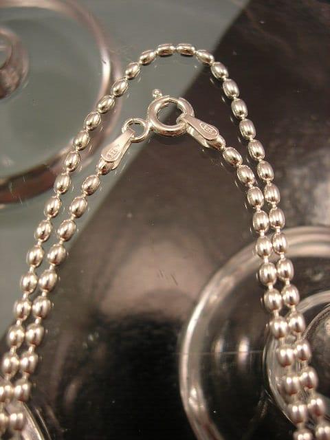 Silverkedja 2 mm - Bean, 41 cm lång
