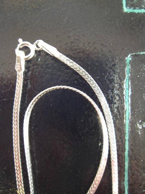 Silverkedja 2 mm - Fiskben, 46 cm lång