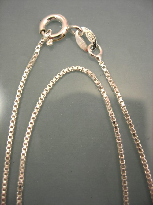Silverkedja 0,9 mm - Venetia, 91 cm lång