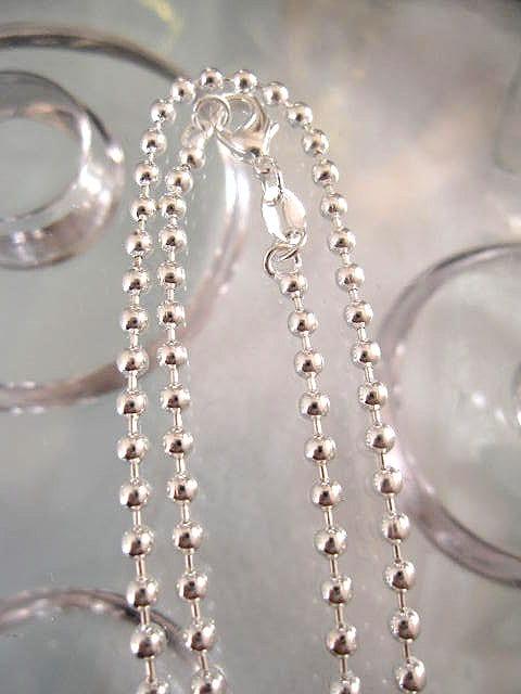 Halsband Silverkedja 2,5 mm - Ärt, 61 cm lång
