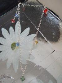 Vristlänk, Fotlänk med Swarovskikristaller - Multifärg