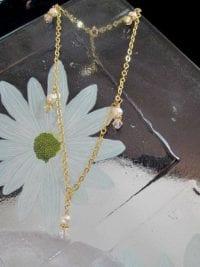 Vristlänk, Fotlänk, Ankelkedja med kristaller o pärlor - GP